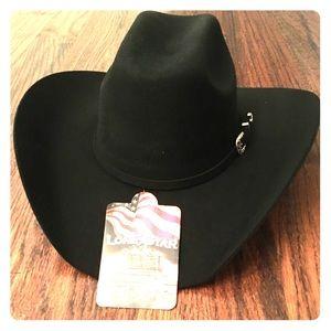 NWT Lonestar Black wool felt cowboy hat